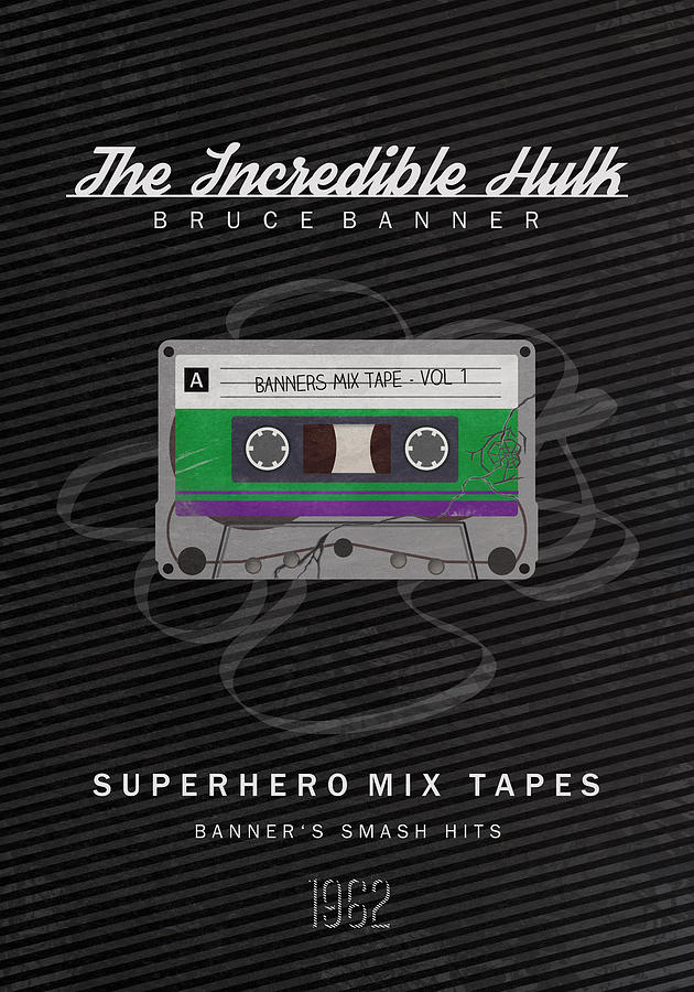 Bruce Banner Digital Art - Superhero Mix Tapes - The Incredible Hulk by Alyn Spiller