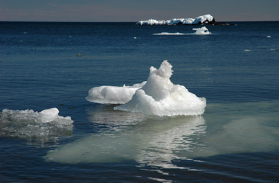 Ice Floes Photograph - Superior Blues And Ice by Sandra Updyke