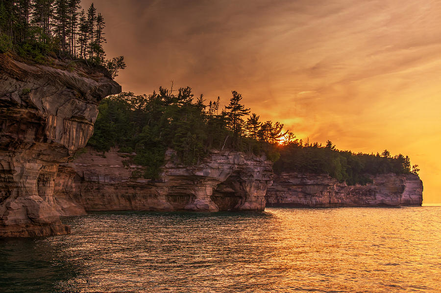 Superior Cliffs at Sunset by At Lands End Photography