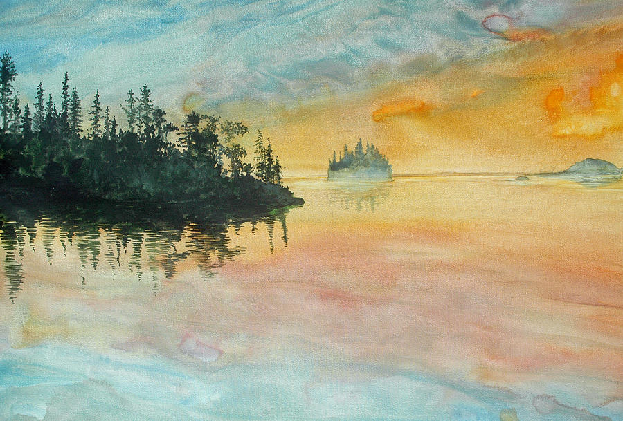 Lake Superior Painting - Superior Memories I by Helen Klebesadel