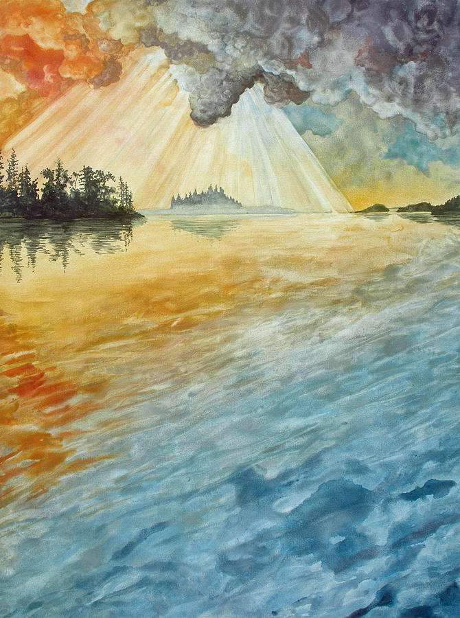 Watercolor Painting - Superior Remembered II by Helen Klebesadel