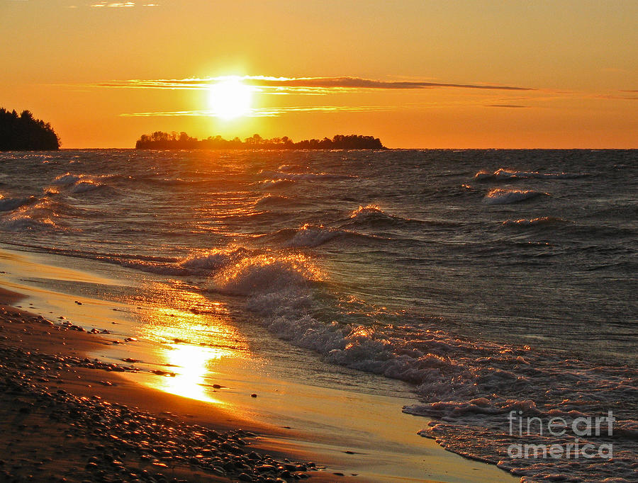 Sunset Photograph - Superior Sunset by Ann Horn