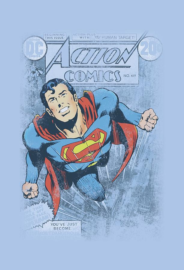Superman Digital Art - Superman - Action #419 Distress by Brand A