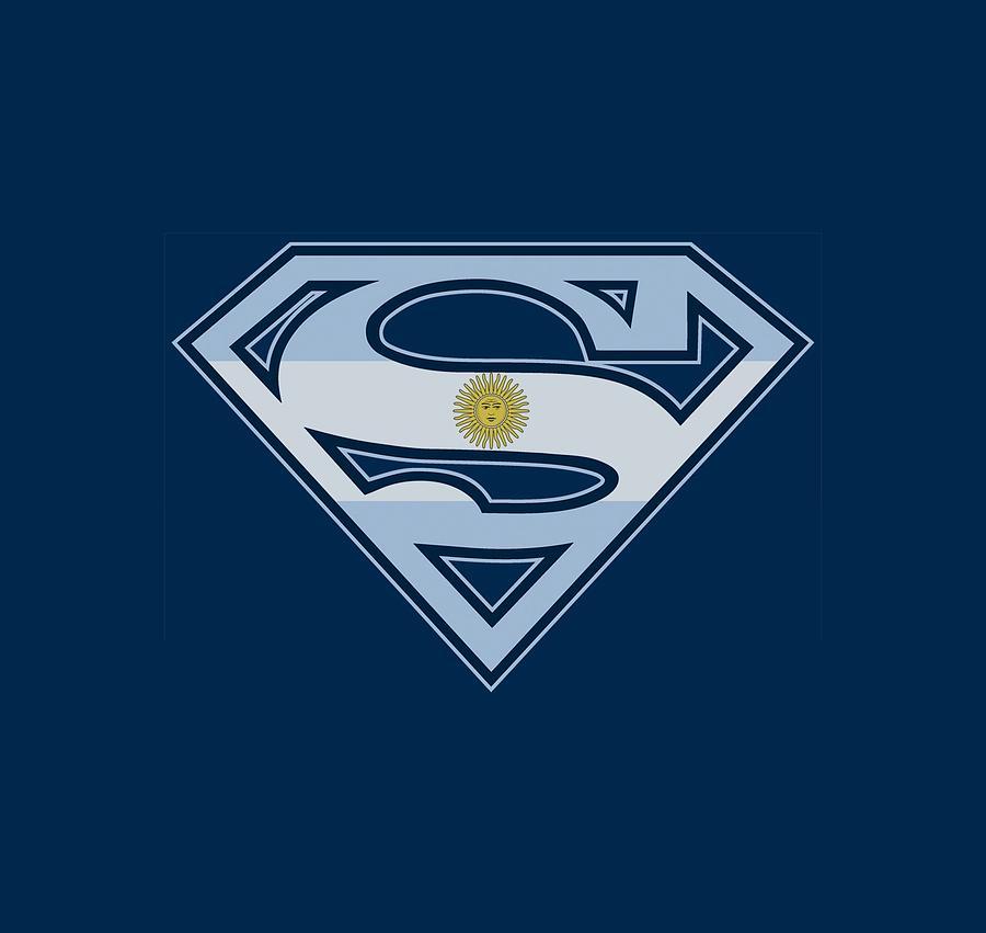 Superman Digital Art - Superman - Argentinian Shield by Brand A