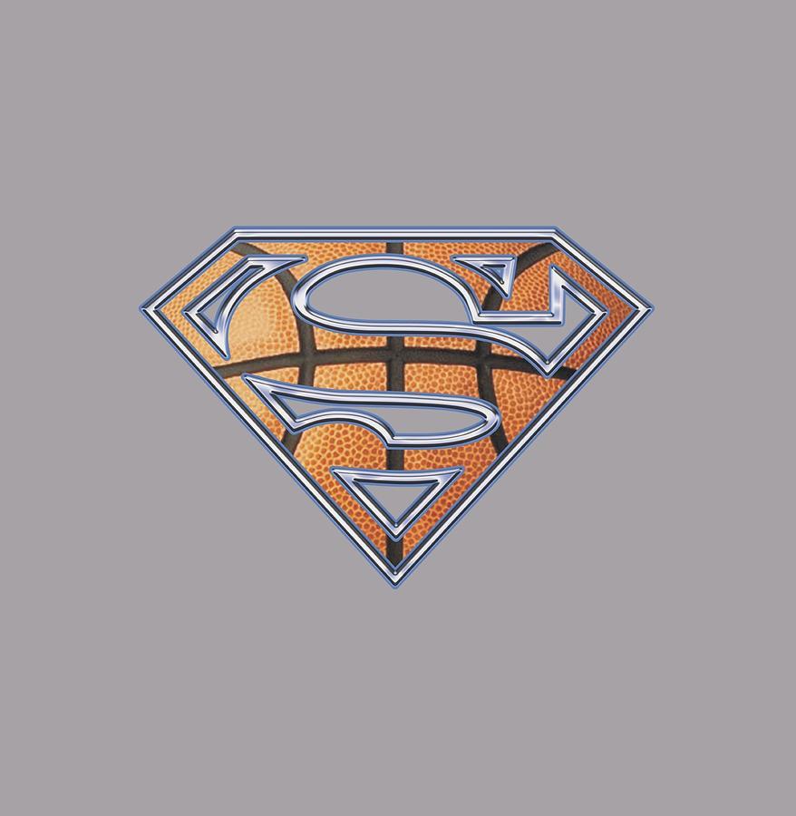 Superman Digital Art - Superman - Basketball Shield by Brand A