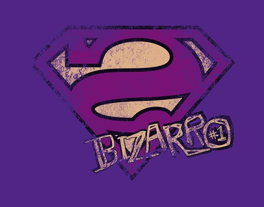 Superman Digital Art - Superman - Bizarro Logo Distressed by Brand A