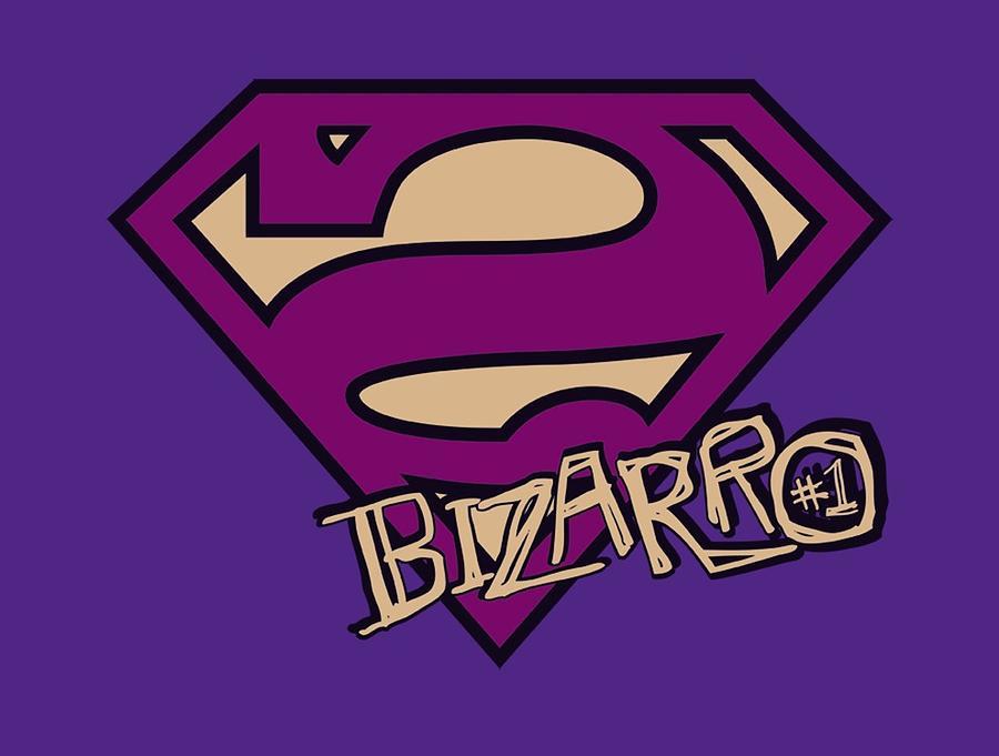 Superman Digital Art - Superman - Bizarro Shield by Brand A