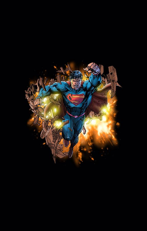 Superman - Blasting Through Digital Art by Brand A