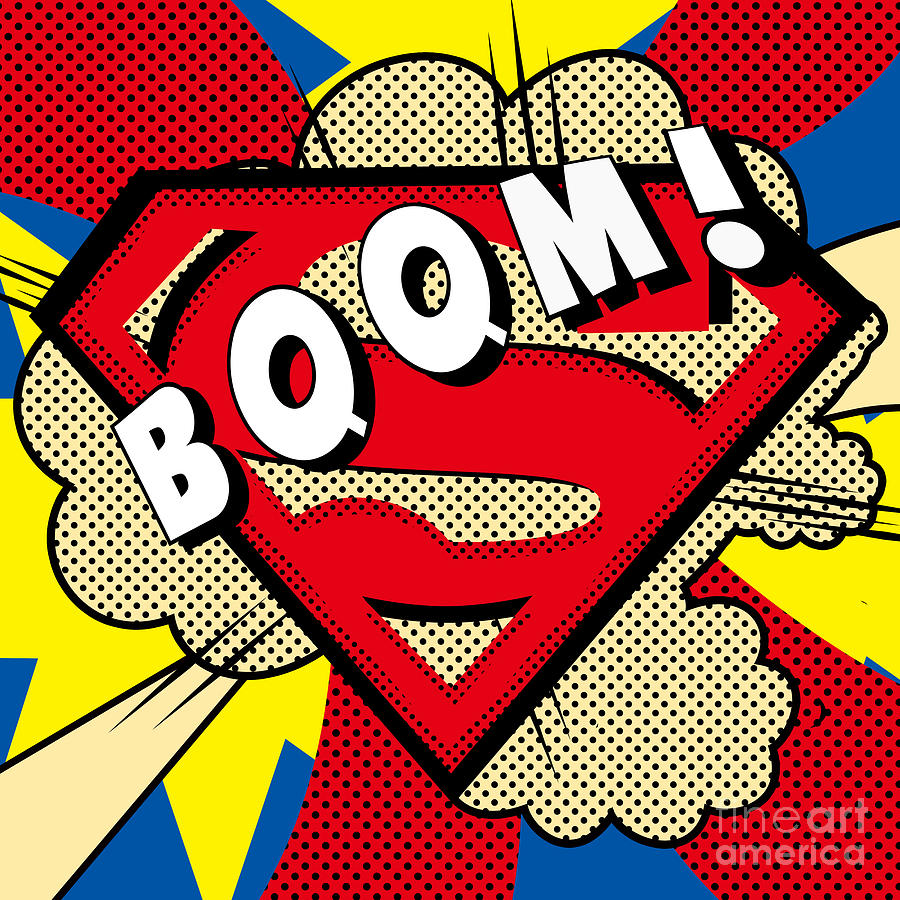 iPhone retro phone case iphone 5 : Superman Boom is a piece of digital artwork by Mark Ashkenazi which ...