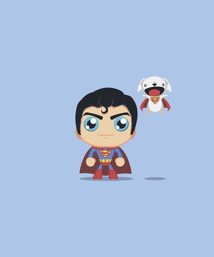 Superman Digital Art - Superman - Cute Superman by Brand A