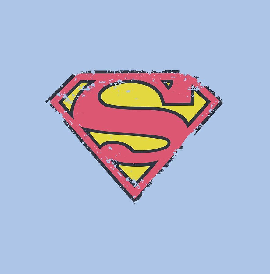 Superman Digital Art - Superman - Distressed Shield by Brand A