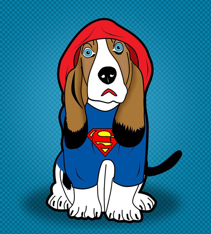 Cartoon Digital Art - Superman Dog  by Mark Ashkenazi