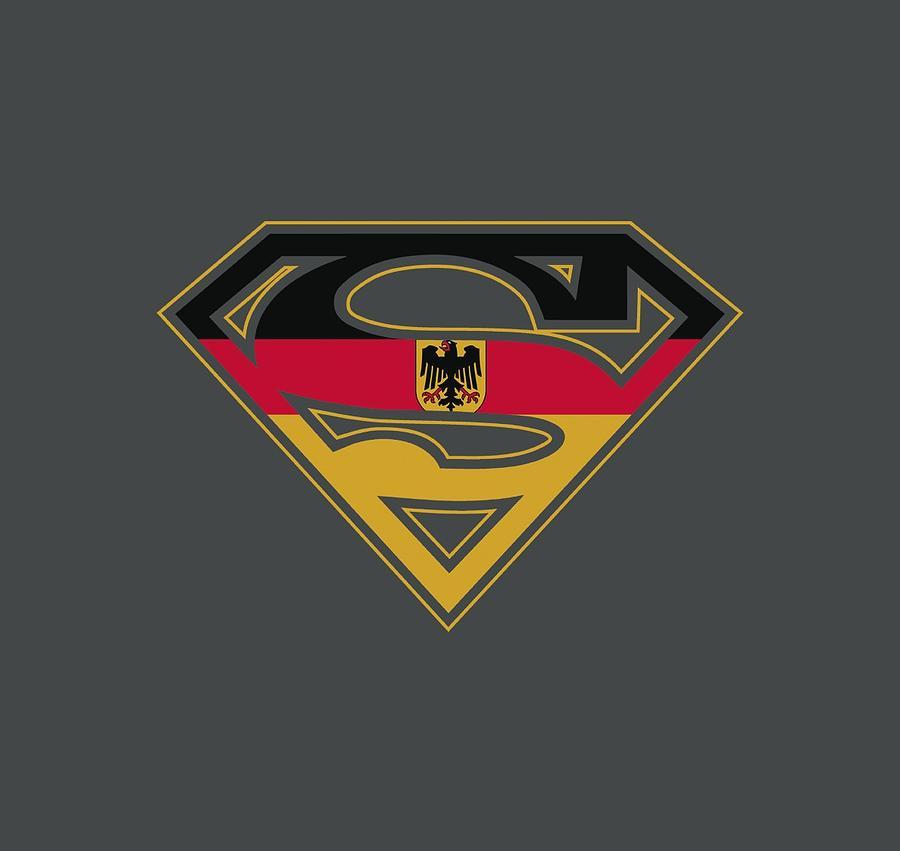 Superman Digital Art - Superman - German Shield by Brand A