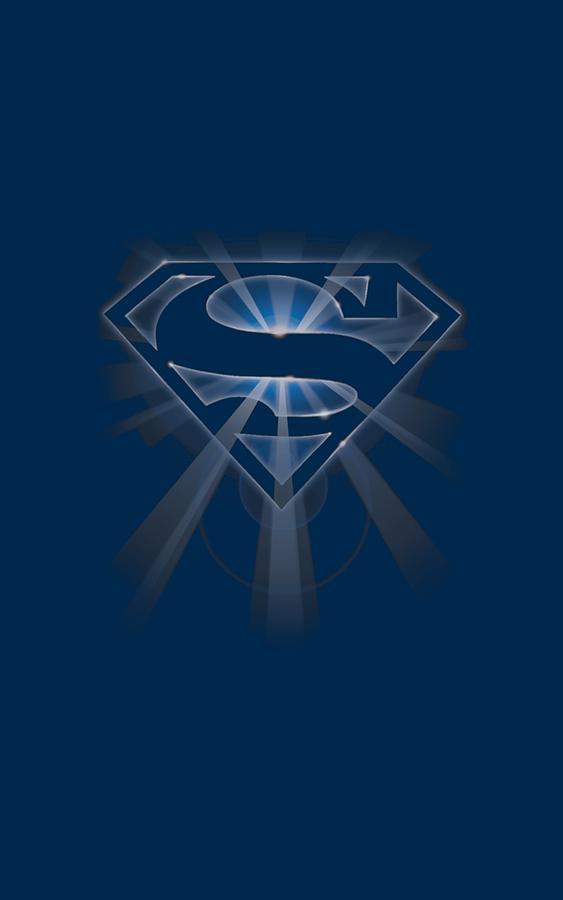 Superman Digital Art - Superman - Glowing Shield by Brand A
