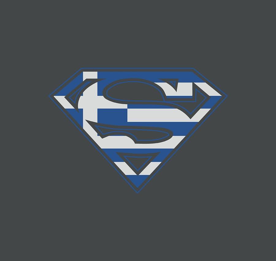Superman Digital Art - Superman - Greek Shield by Brand A
