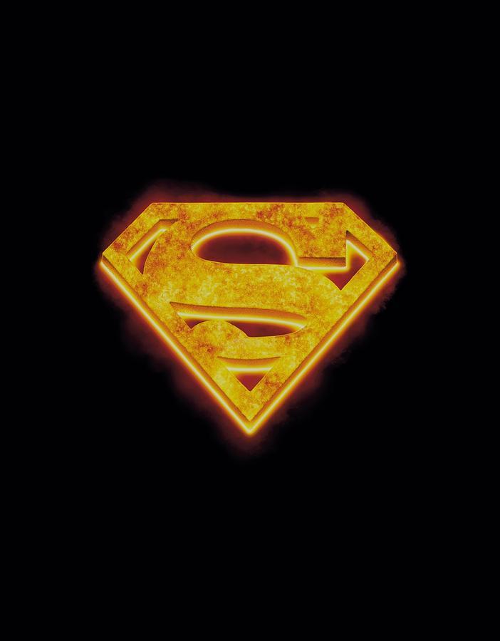 Superman Digital Art - Superman - Hot Steel Shield by Brand A