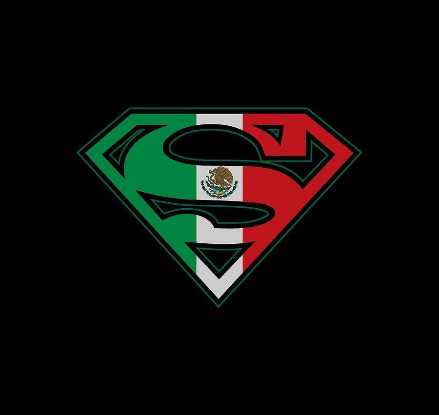 Superman Digital Art - Superman - Mexican Flag Shield by Brand A