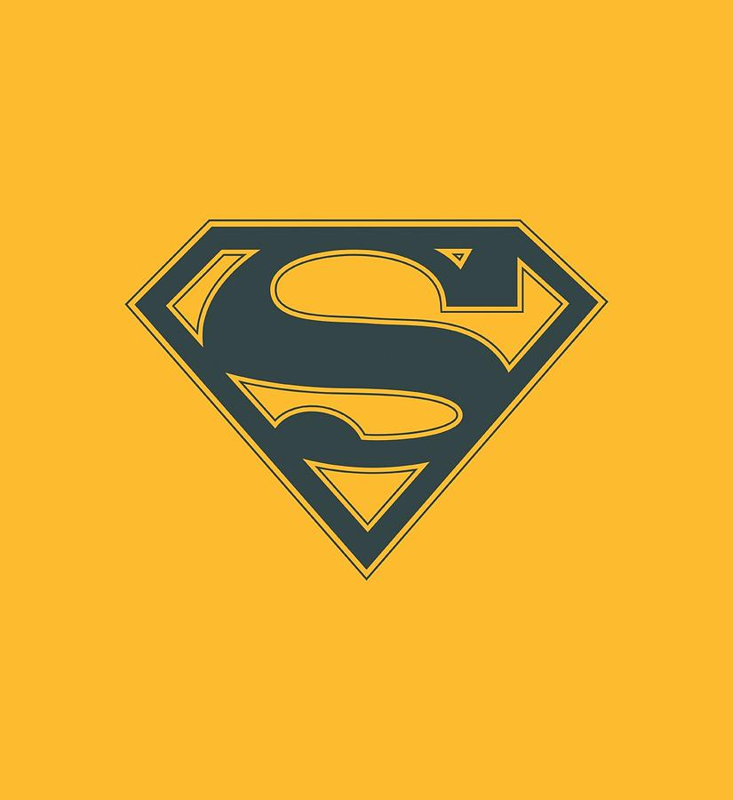 Superman Digital Art - Superman - Navy And Gold Shield by Brand A