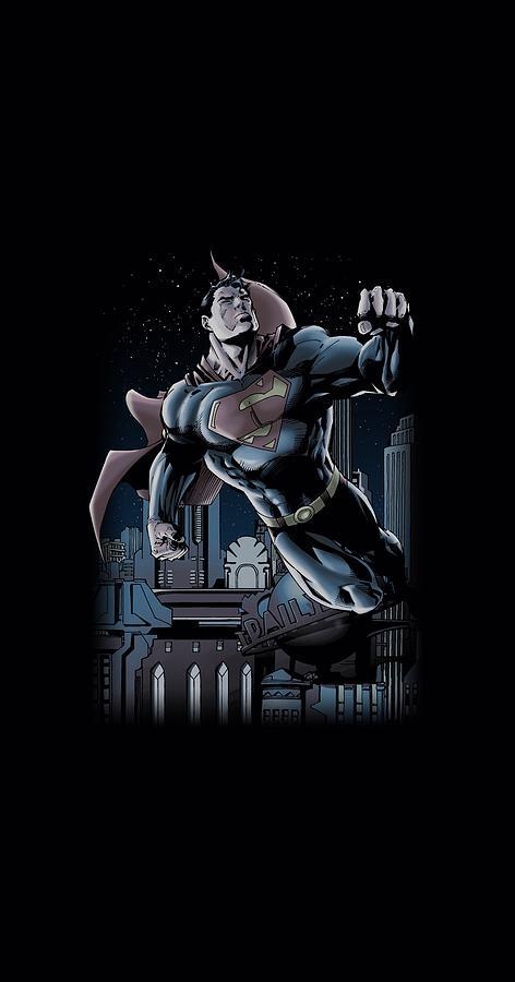 Superman Digital Art - Superman - Night Fight by Brand A