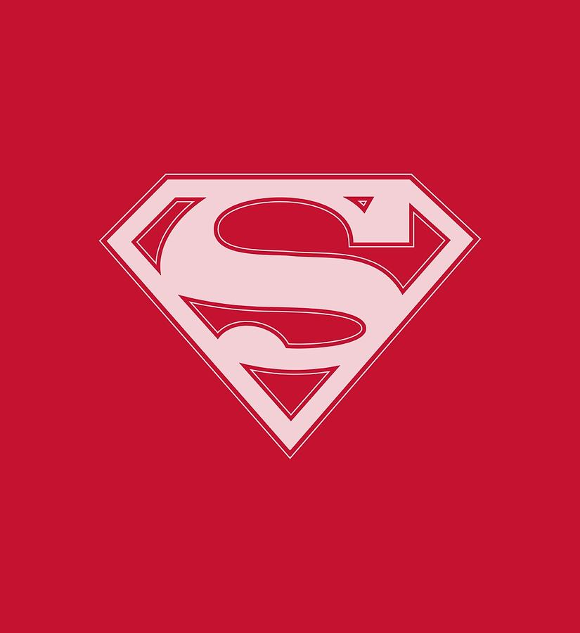 Superman Digital Art - Superman - Red And White Shield by Brand A