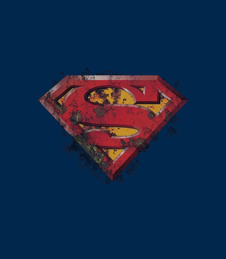 Superman Digital Art - Superman - Rusted Shield by Brand A