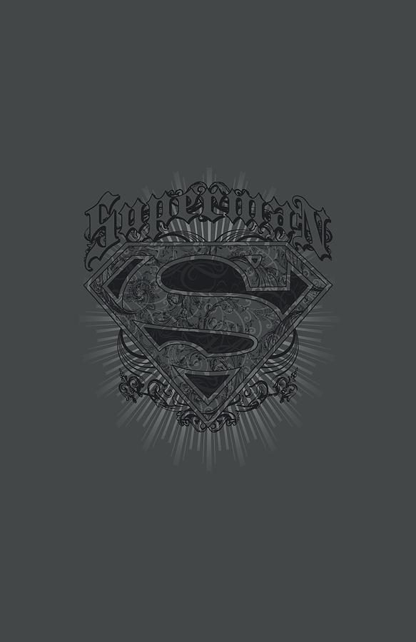 Superman Digital Art - Superman - Scrolling Shield by Brand A