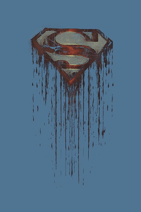 Superman Digital Art - Superman - Shield Drip by Brand A