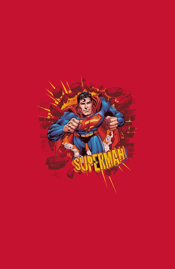 Superman Digital Art - Superman - Sorry About The Wall by Brand A