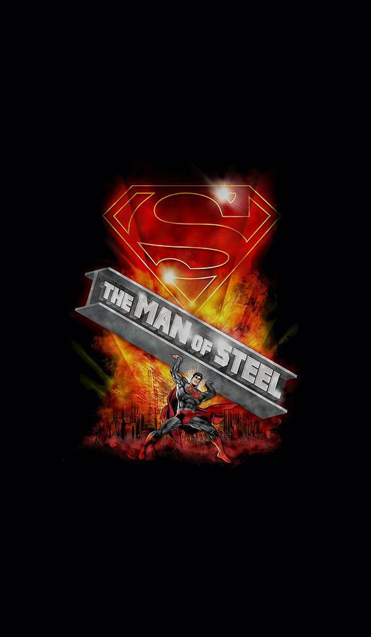 Superman Digital Art - Superman - Steel Girder by Brand A