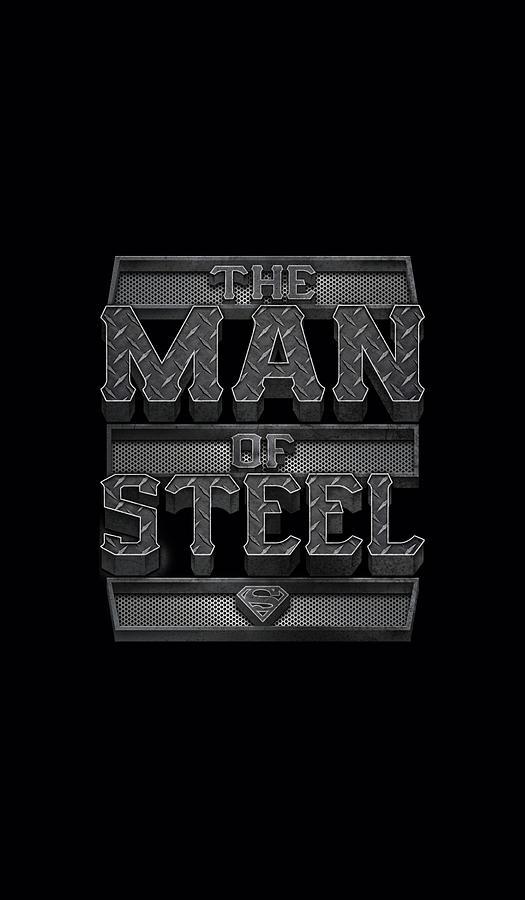 Superman Digital Art - Superman - Steel Text by Brand A