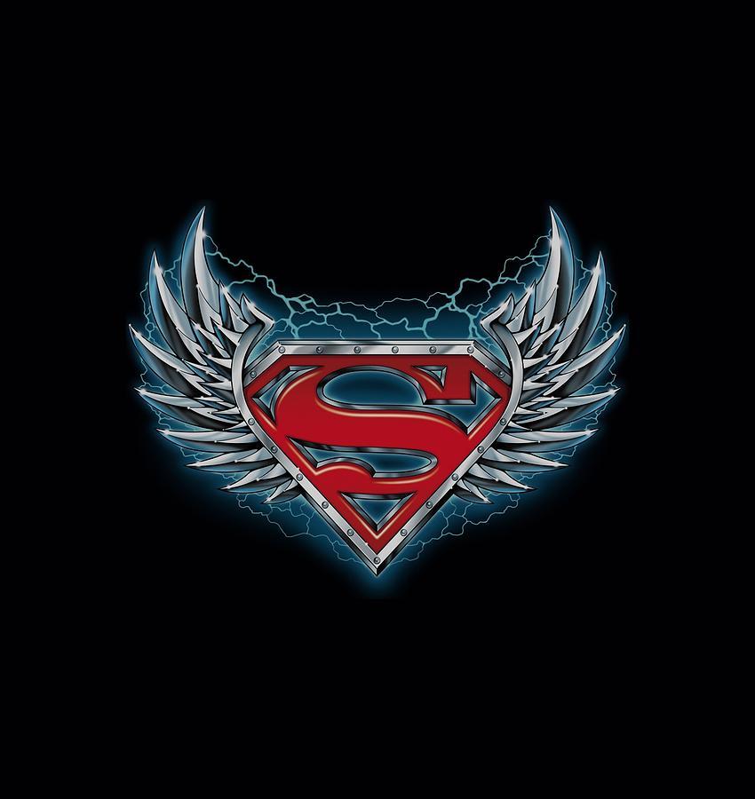 Superman Steel Wings Logo Digital Art By Brand A