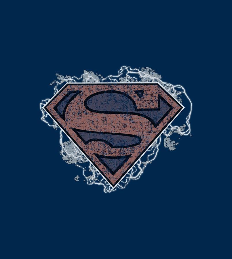 Superman Digital Art - Superman - Storm Cloud Supes by Brand A