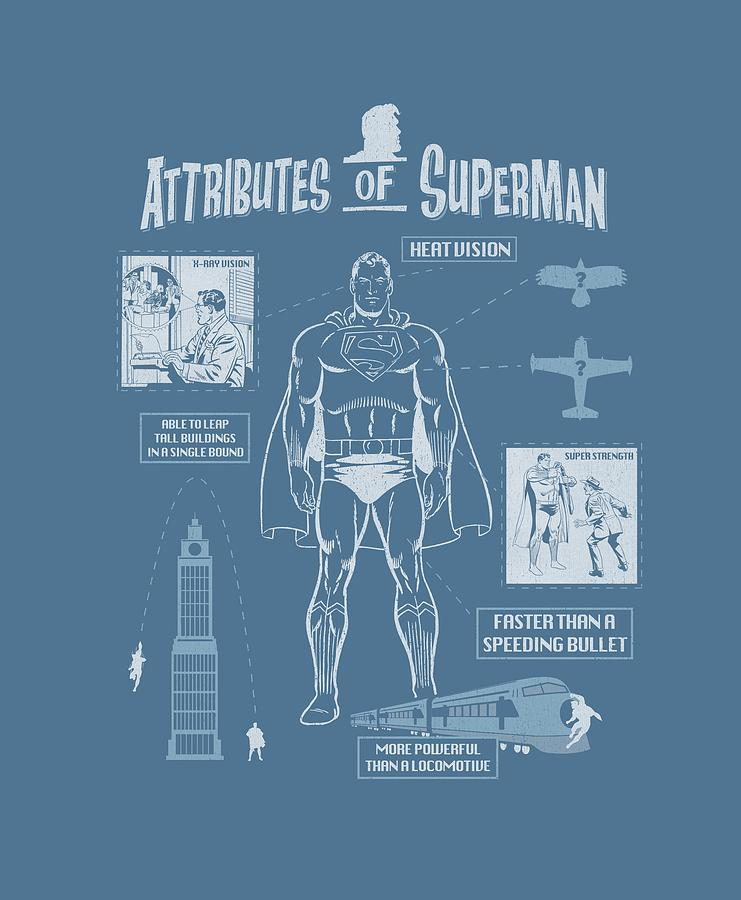 Superman Digital Art - Superman - Super Diagram by Brand A