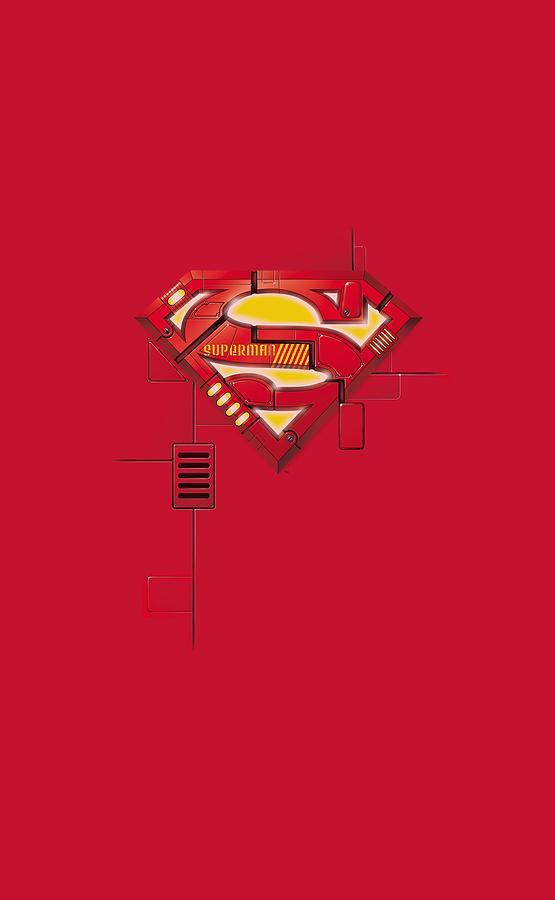 Superman Digital Art - Superman - Super Mech Shield by Brand A