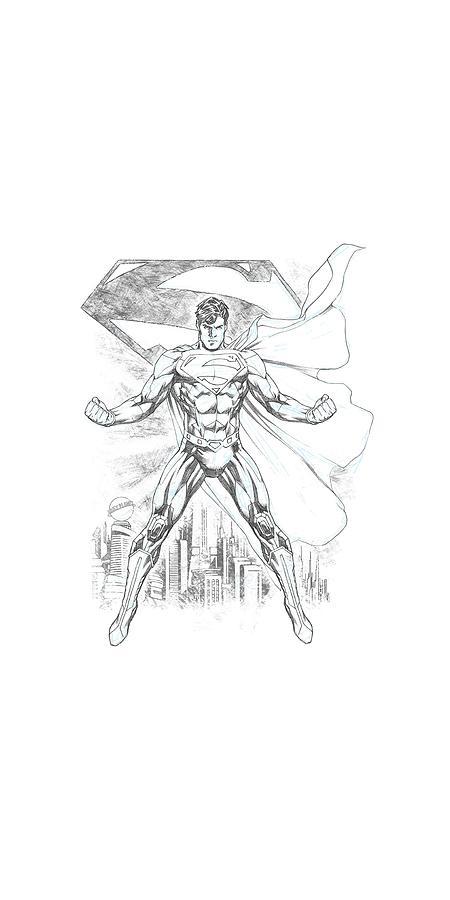 Superman Digital Art - Superman - Super Sketch by Brand A