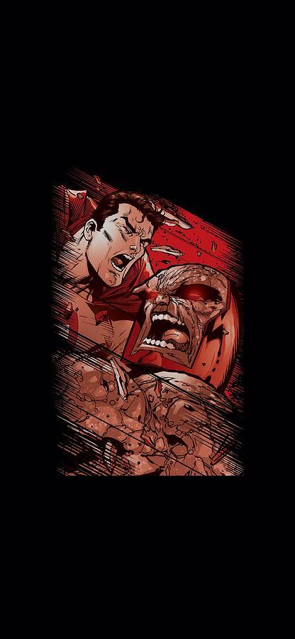 Superman Digital Art - Superman - Supes Vs Darkseid by Brand A