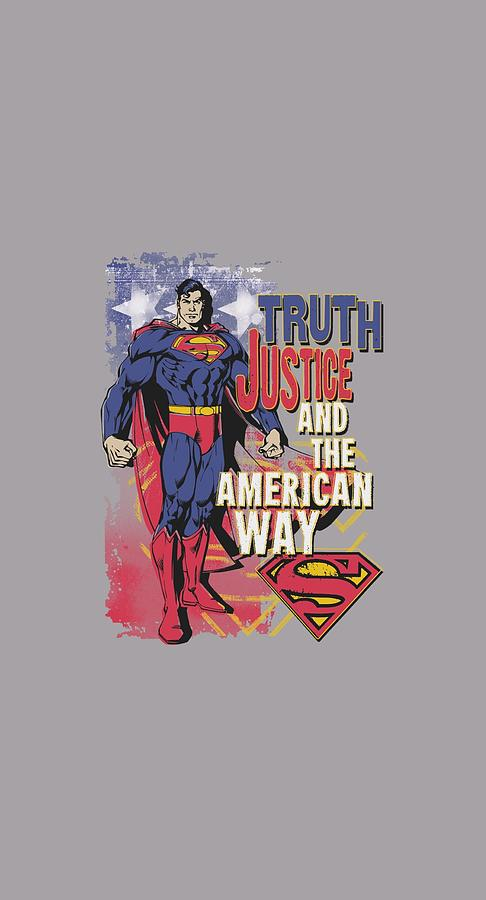 Superman Digital Art - Superman - Truth Justice by Brand A