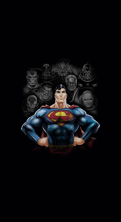 Superman Digital Art - Superman - Villains by Brand A