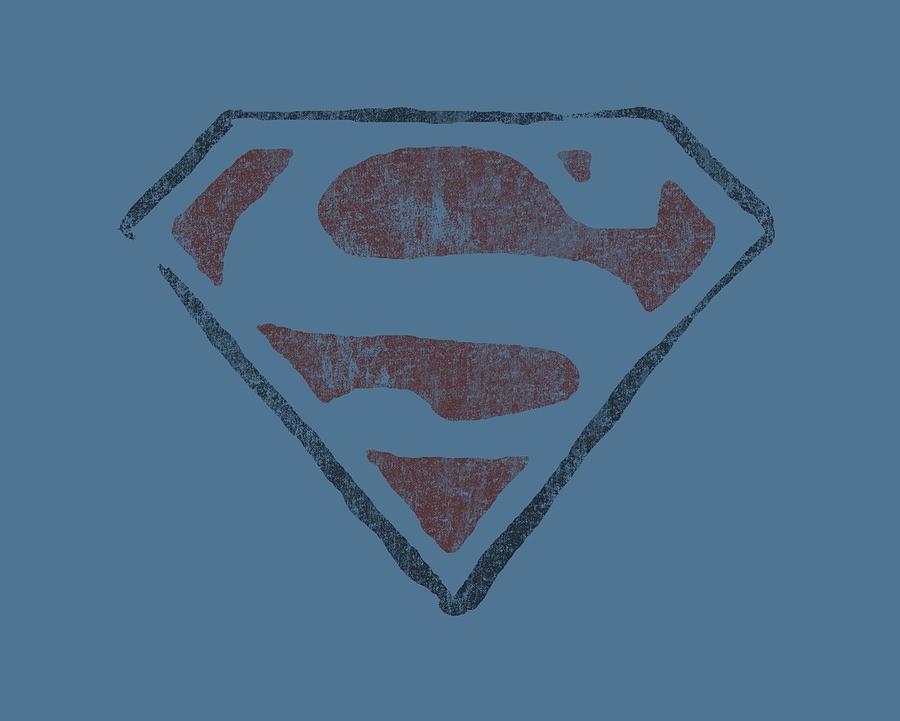 Superman Digital Art - Superman - Vintage S by Brand A