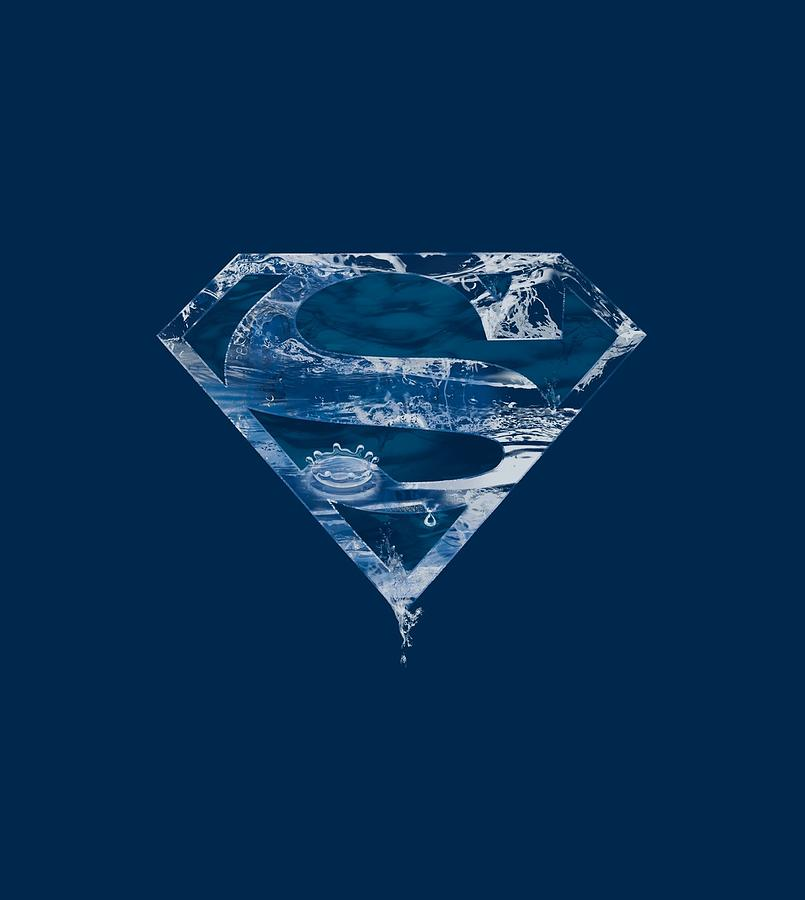 Superman Digital Art - Superman - Water Shield by Brand A