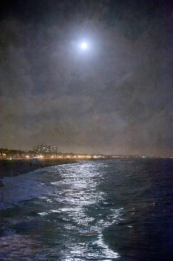 Supermoon Over Santa Monica Bay Photograph by Denise Taylor