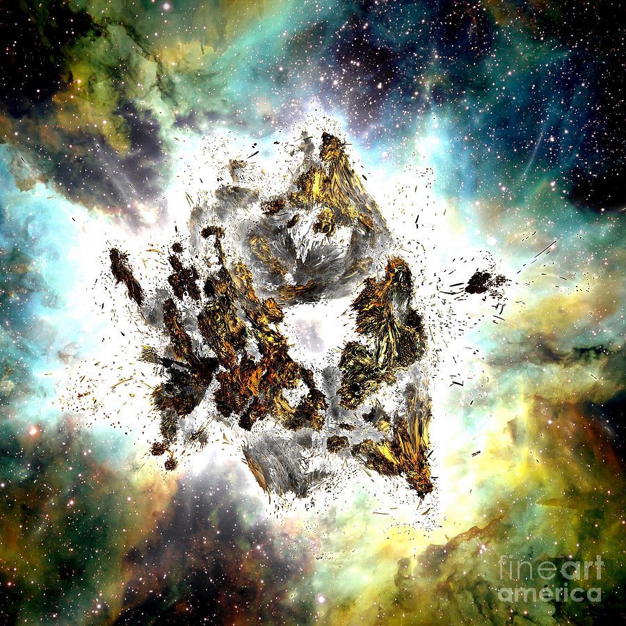 Fractal Art Digital Art - Supernova by Bernard MICHEL