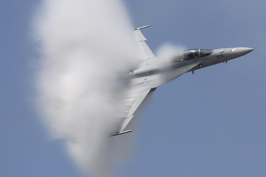 Sound Photograph - Supersonic Super Hornet by John Clark