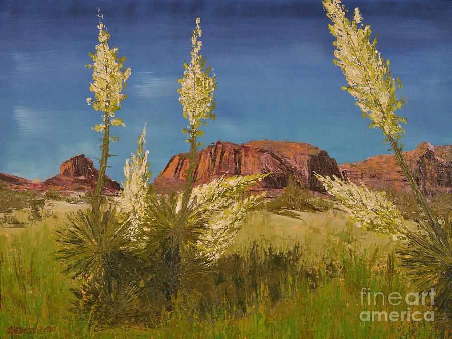 Landscape Painting - Superstition Mountain by Jack Hedges
