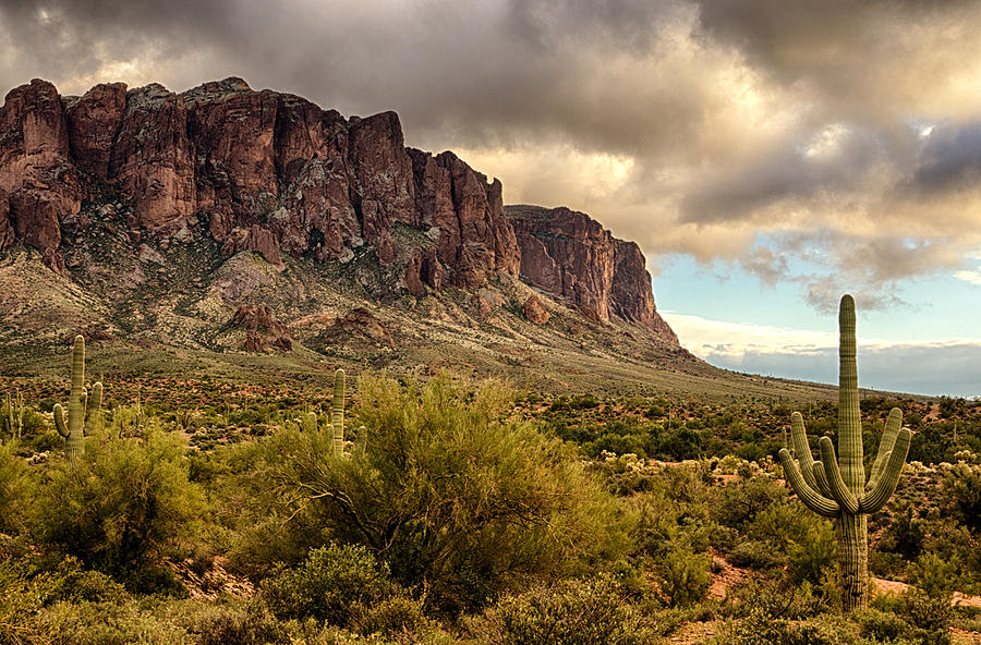 Superstition Mountains Photograph - Superstition Mountains  by Saija  Lehtonen