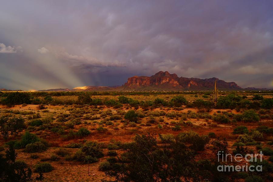 Superstition Sun Rays by Kerri Mortenson