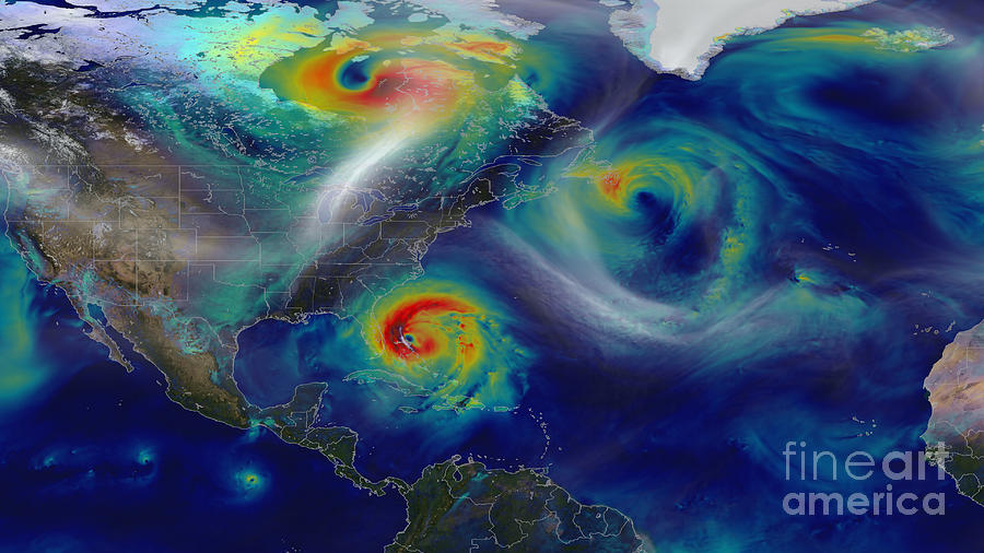 Science Photograph - Superstorm Sandy by Science Source
