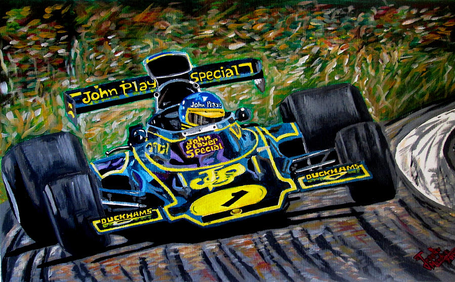 Motorsport Painting - Superswede by Jose Mendez