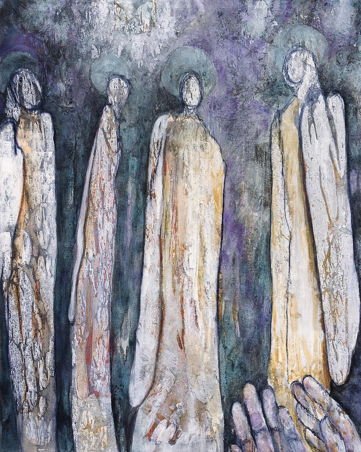 Angels Painting - Supplication by Nancy Smith