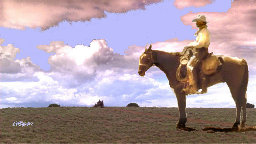 Lonesome Dove Series Digital Art - Supply Wagon Coming by Seth Weaver